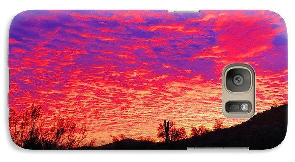 Y Cactus Sunset 1 Galaxy S7 Case