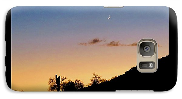 Y Cactus Sunset Moonrise Galaxy S7 Case