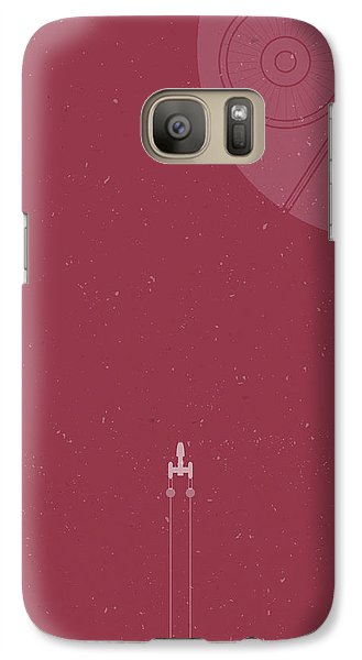 Space Ships Galaxy S7 Case - Y-wing Bomber Meets Death Star by Samuel Whitton