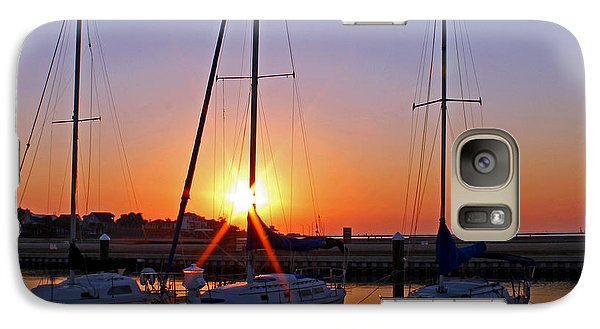 Galaxy Case featuring the photograph Yacht Club Sunrise by Judy Vincent