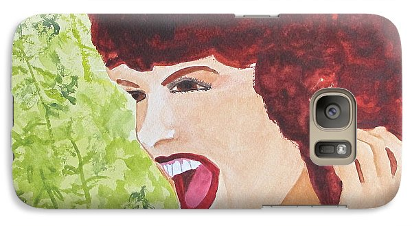 Galaxy Case featuring the painting Yah by Sandy McIntire