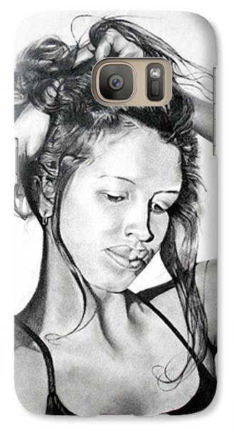 Galaxy Case featuring the drawing Yaha by Mayhem Mediums