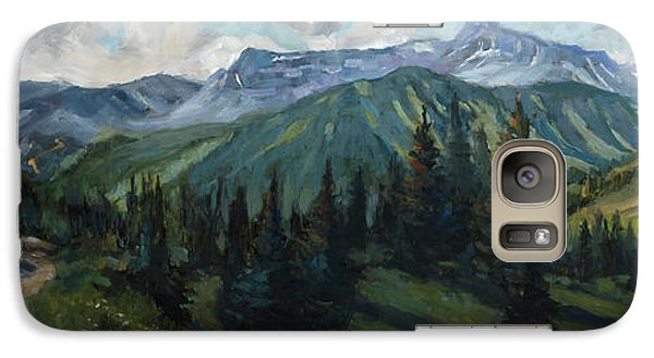 Galaxy Case featuring the painting Yankee Boy Basin by Billie Colson