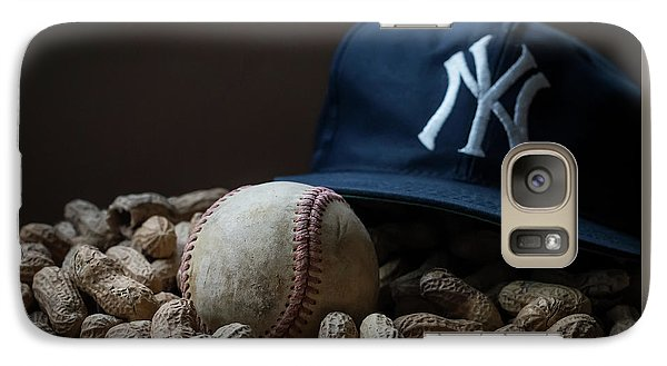 Galaxy Case featuring the photograph Yankee Cap Baseball And Peanuts by Terry DeLuco