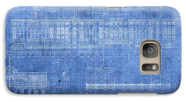 Yankee Stadium New York City Blueprints Galaxy S7 Case