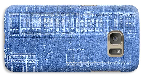 Yankee Stadium New York City Blueprints Galaxy S7 Case by Design Turnpike