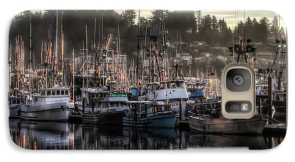 Galaxy Case featuring the photograph Yaquina Bay Boat Basin At Dawn by Thom Zehrfeld