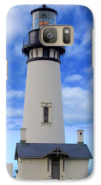 Galaxy Case featuring the photograph Yaquina Head Lighthouse by Todd Kreuter