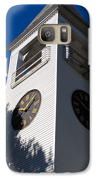 Galaxy Case featuring the photograph Yarmouth Baptist Clock Tower by Dick Botkin