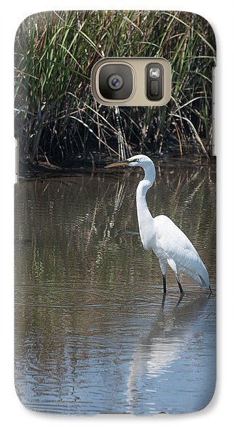 Galaxy Case featuring the photograph Yawkey Wildlife Refuge - Great White Egret II by Suzanne Gaff