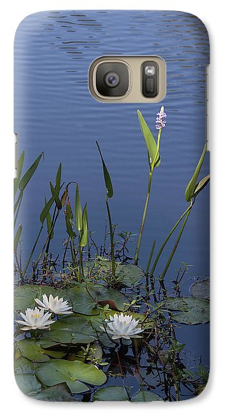 Galaxy Case featuring the photograph Yawkey Wildlife Reguge Water Lilies With Rare Plant by Suzanne Gaff
