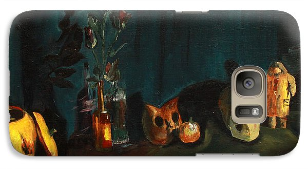 Galaxy Case featuring the painting Yeah Its Halloween by Jane Autry
