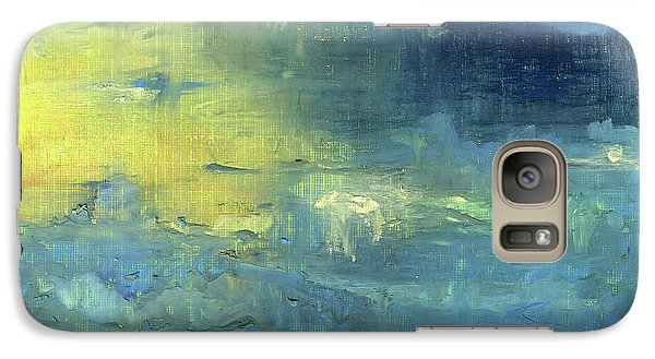 Galaxy Case featuring the painting Yearning Tides by Michal Mitak Mahgerefteh