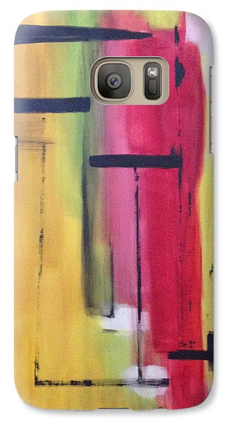 Galaxy Case featuring the painting Yellow Abstract by Patricia Cleasby