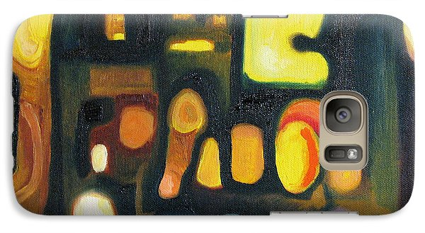 Galaxy Case featuring the painting Yellow And Blue by Patricia Arroyo
