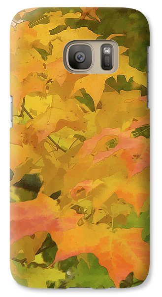 Galaxy Case featuring the photograph Yellow And Green Fall Leaves by Michael Flood