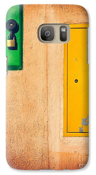 Yellow And Green Galaxy S7 Case by Silvia Ganora
