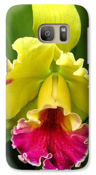 Galaxy Case featuring the photograph Yellow And Pink Cattleya Orchid by Alfred Ng