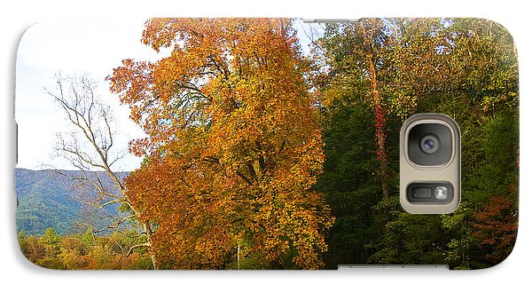 Galaxy Case featuring the photograph Yellow And Red Tree by Bob Decker