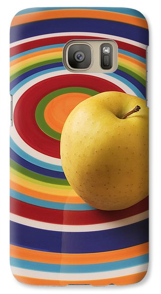 Apple Galaxy S7 Case - Yellow Apple  by Garry Gay