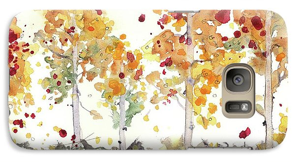 Galaxy Case featuring the painting Yellow Aspens by Dawn Derman
