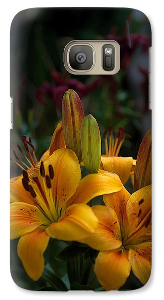 Galaxy Case featuring the photograph Yellow Beauties by Cherie Duran