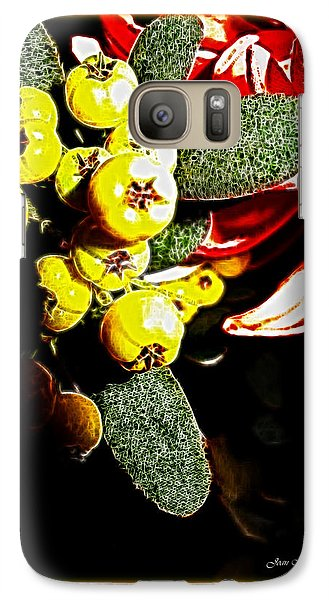 Galaxy Case featuring the photograph Yellow Berries by Joan  Minchak