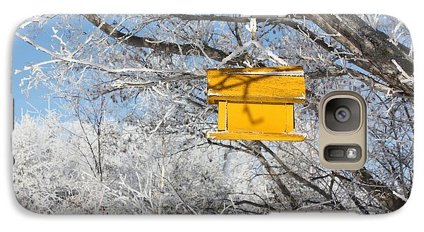 Galaxy Case featuring the photograph Yellow Bird House by Pat Purdy