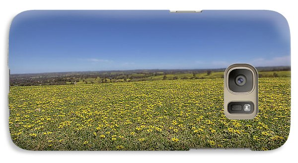 Galaxy Case featuring the photograph Yellow Blanket II by Douglas Barnard
