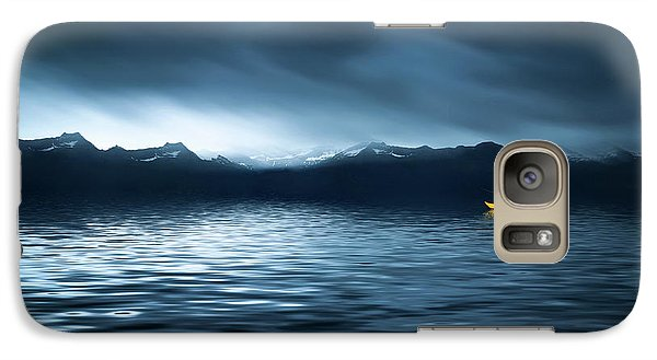 Galaxy Case featuring the photograph Yellow Boat by Bess Hamiti