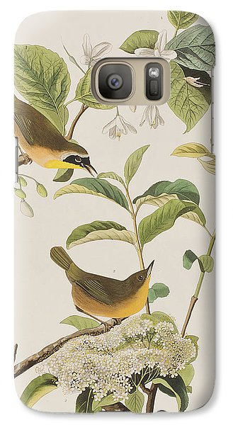 Yellow-breasted Warbler Galaxy S7 Case by John James Audubon