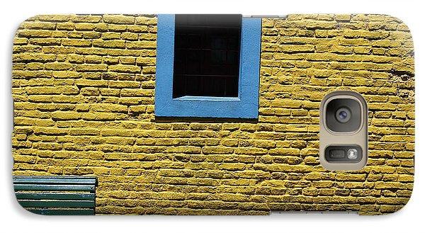Galaxy Case featuring the photograph Yellow Brick Window by Wilko Van de Kamp
