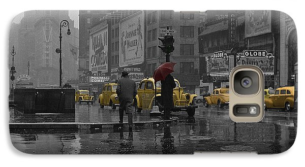 Times Square Galaxy S7 Case - Yellow Cabs New York by Andrew Fare