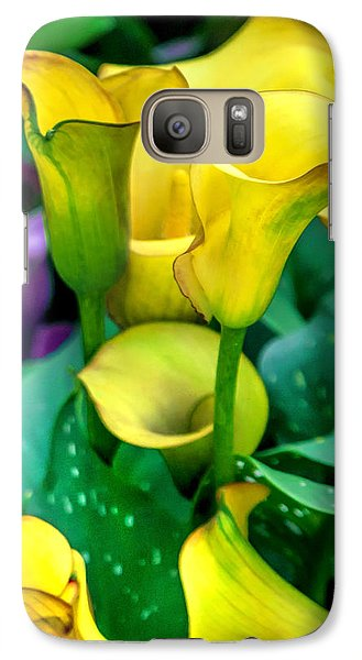 Colours Galaxy S7 Case - Yellow Calla Lilies by Az Jackson