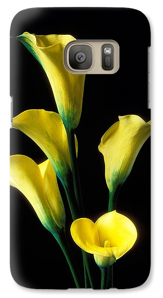 Lily Galaxy S7 Case - Yellow Calla Lilies  by Garry Gay