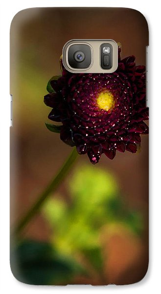 Galaxy Case featuring the photograph Yellow Center by Cherie Duran