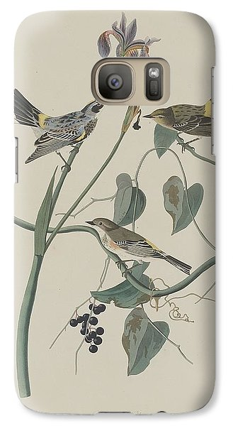 Yellow-crown Warbler Galaxy S7 Case by Rob Dreyer