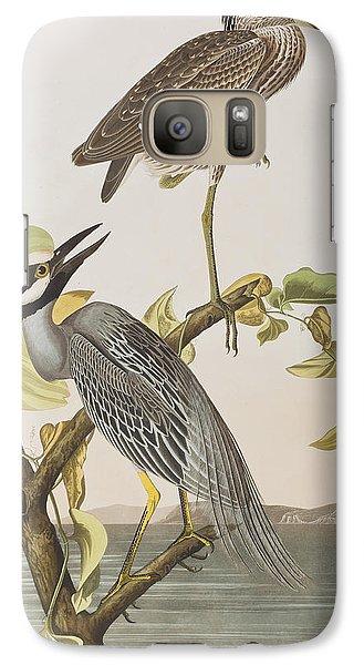 Yellow Crowned Heron Galaxy Case by John James Audubon