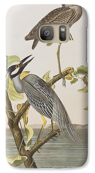 Yellow Crowned Heron Galaxy S7 Case
