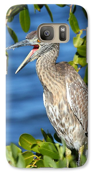 Galaxy Case featuring the photograph Yellow-crowned Night Heron by Jennifer Zelik