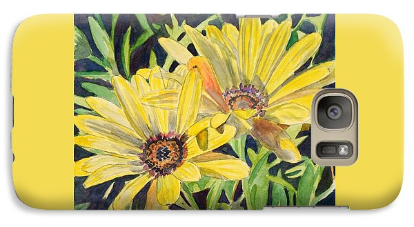 Galaxy Case featuring the painting Yellow Daisy by LeAnne Sowa