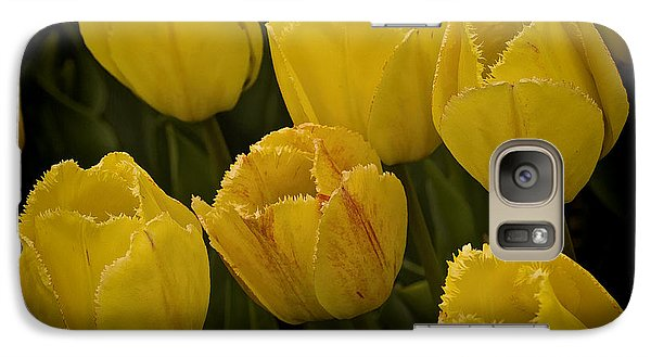 Galaxy Case featuring the photograph Yellow Detailed Tulip by Michael Flood