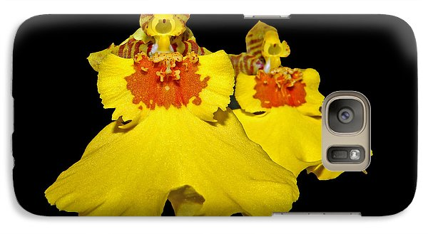 Galaxy Case featuring the photograph Yellow Dresses by Judy Vincent