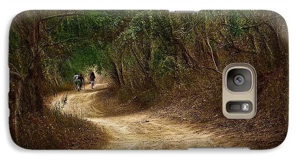 Galaxy Case featuring the photograph Yellow Dust Road by Cameron Wood