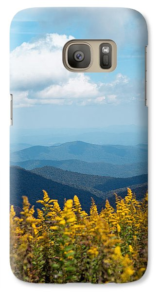 Galaxy Case featuring the photograph Yellow Flowers Along The Blue Ridge Mountains by Kim Fearheiley