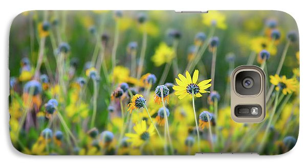 Galaxy Case featuring the photograph Yellow Flowers by Kelly Wade