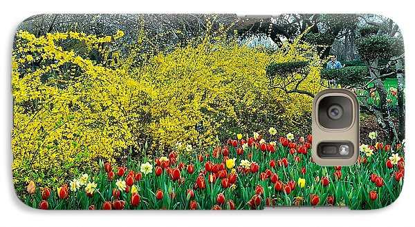 Galaxy Case featuring the photograph Yellow Forsythia by Diana Mary Sharpton