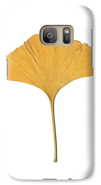 Galaxy Case featuring the photograph Yellow Ginkgo Leaf by Renee Trenholm