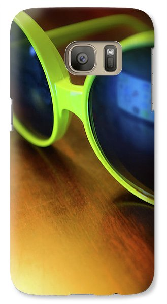 Galaxy Case featuring the photograph Yellow Goggles With Reflection by Carlos Caetano