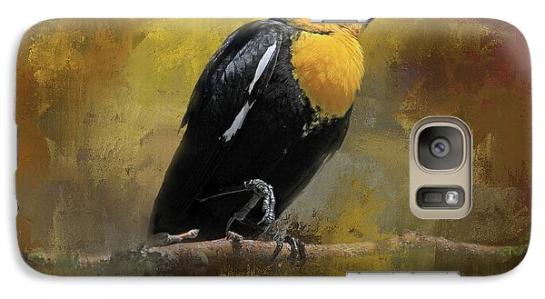 Galaxy Case featuring the photograph Yellow-headed Blackbird by Donna Kennedy